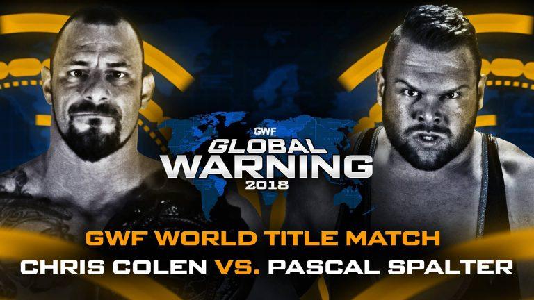 Das Rematch Pascal Spalter fordert den GWF World Champion Chris Colen