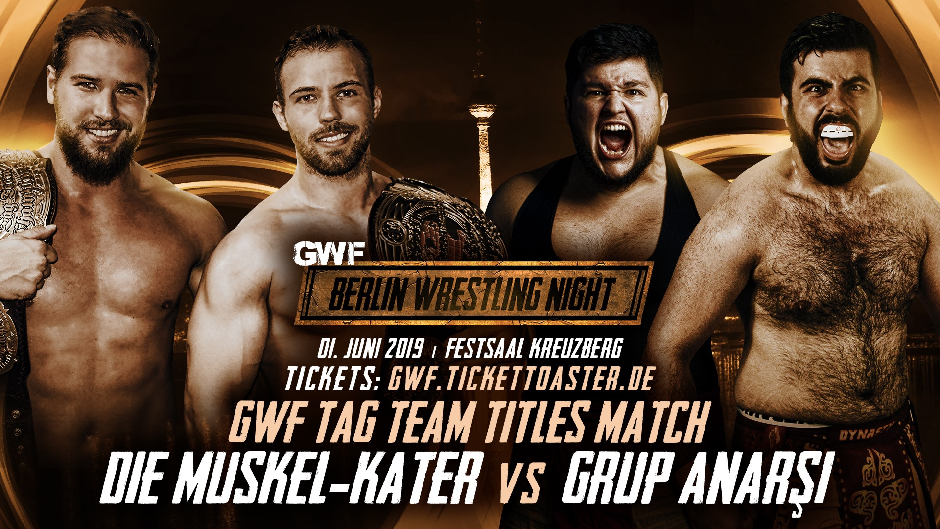 Die Muskel-Kater - Grup Anarsi - GWF Berlin Wrestling Night